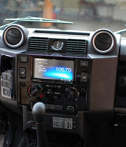 Land Rover Defender Dashboard >> LAND ROVER DEFENDER DOUBLE DIN CONVERSION KIT Gloss Piano Black | LaSalle Interior Trim